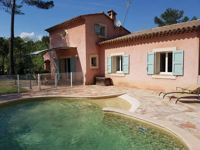 Photo for Beautiful family villa with pool on the hills of the Cote d'Azur
