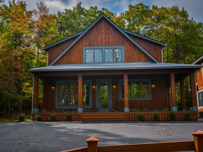 Photo for Centrally located with hot tub & fire pit!