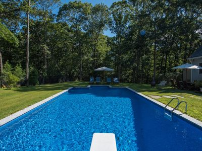 Photo for Private North Fork home w/ Pool & beach amenities visit Vineyards / farms