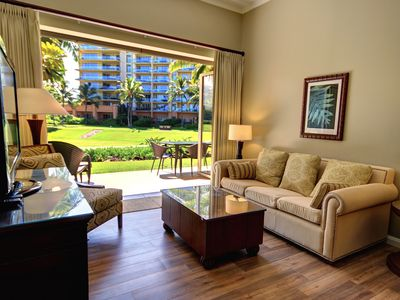 Photo for Ground Floor 2 bed 1 bath unit at Honua Kai Resort and Spa, convenient location