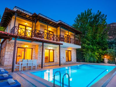 Photo for Charming 6 Bedroom Villa with Very Private Pool in Peaceful Setting above Kalkan