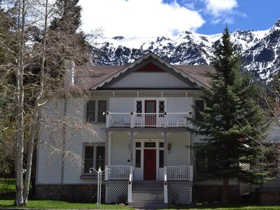 Photo for 1890 Historic Ouray Manor - heart of Ouray - private Hot Spring access!
