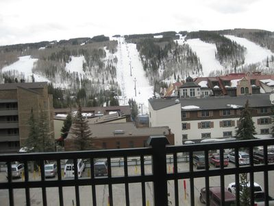 Balcony view of Lionshead gondola & high speed chairlift #8