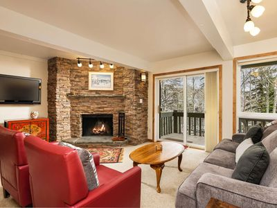 Photo for Snowmass Slopeside Condo. Spacious Patio w/Gas Grill, Parking, Elevator, Wood FP, WIFI, Outdoor HT
