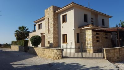 Front of villa from road