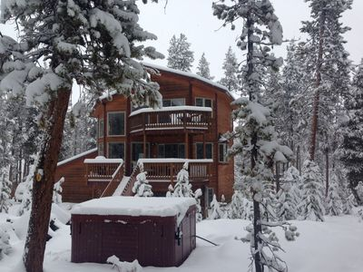 Photo for Pet Friendly Mountain Home w/Hot Tub, 10 Mins from Ski Resort & on Shuttle Route
