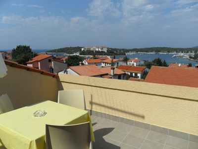 Photo for Holiday apartment 4+2 with beautiful sea view, 350m from the beach