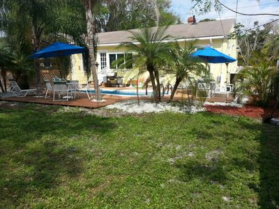 View of Pool - Tropical Landscaping