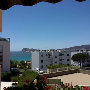 Photo for T2 44 M2 for 4 people. SEA VIEW and PARK LARGE TREES AND FLOWERS ...