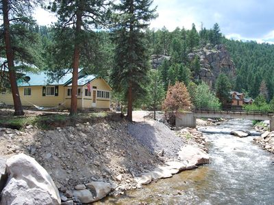 Photo for NEW LISTING! Dog-friendly, riverfront cabin with a full kitchen on 300 acres