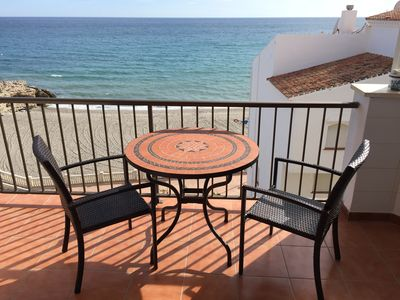 Photo for 2 bedroom frontline apartment on Torrecilla beach with uninterrupted sea views