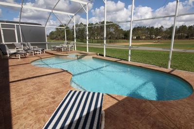Pool deck renovation in May 2017