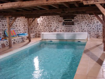 Photo for Gite with private interior pool headed at 30 degrees