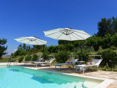 Photo for Luxury apartment and lovely pool with best views in Le Marche at Villa Miramonti