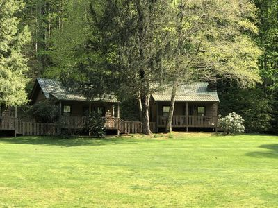 Photo for Cabin on a hillside overlooking beautiful Valley Springs Lake pet friendly (dog)