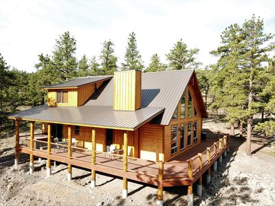 Photo for The Timberwolf (BRAND NEW CABIN Overlooking Pond & Bording the National Forest)