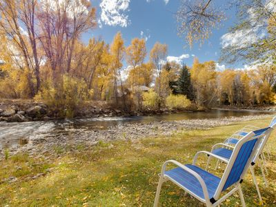 Photo for NEW LISTING! Riverfront home w/gorgeous setting - near fishing/golfing