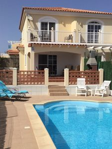 View of Villa from pool area.