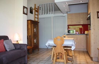 Photo for Near ski slopes of Rochebrune, nice apartement with garden