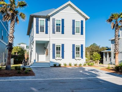 Photo for Salty Blues: Brand New Beach Home w/ Beautiful Private Heated Pool! Four Bikes!