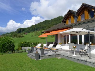 Photo for spacious detached villa with large garden above the Lake of Sarnen