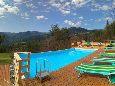 Photo for mansions  with pool  and enchanting view over mountains - 7 rooms - 2/13 persons