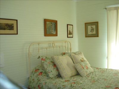 Antique iron bed with very comfortable Sealy memory works mattress,quality linen