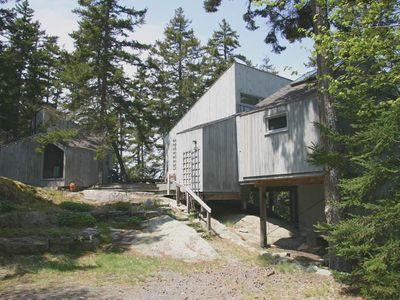 Photo for Secluded Home Offers Water Access, Stunning Harbor and Island Views