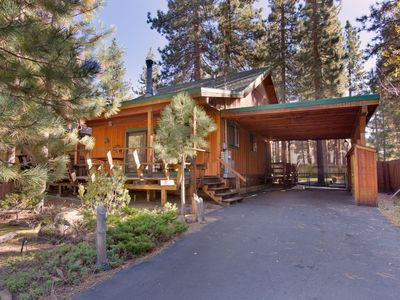 Photo for Darling updated cabin with a hot tub in the heart of everything!