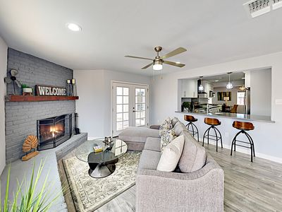 Photo for New Listing! Modern Getaway w/ Gourmet Kitchen, Fireplace, & Private Pool