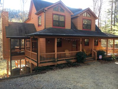 Photo for Spacious Waterfront Cabin On The Toccoa River
