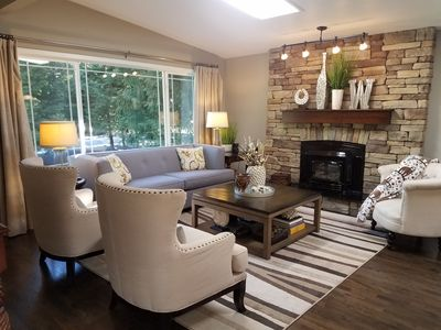 Photo for Woodinville Half Acre Woodsy Getaway with Luxury Amenities