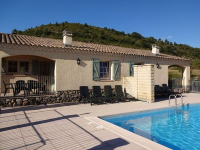 Photo for House with panoramic view and swimming pool in Ardèche