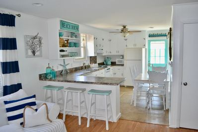 Kitchen w/ Kuerig & Cute Beach Decor