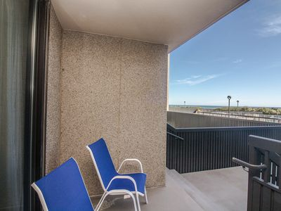 Photo for F101: 1st fl 2BR+den Sea Colony oceanfront condo! Private beach, pools, tennis!