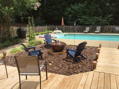 New decking and landscape