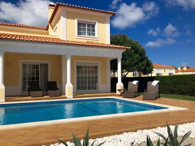 Photo for Luxe 3 bedroom villa with private pool, garden, WiFi at Praia d'el Rey