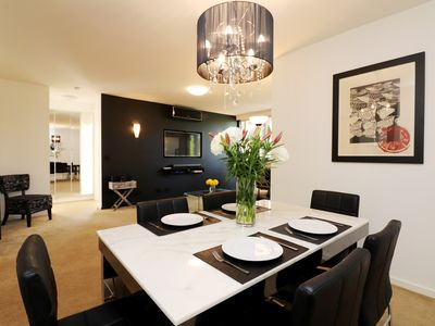 Photo for The Ivy, elegant and spacious Hawthorn apartment - Parking, Balcony, WiFi