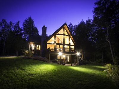Photo for Large Custom Log Home. Spacious, family-friendly and close to Sunday River