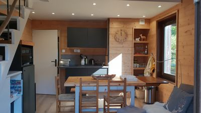 Photo for Cozy T3 renovated chalet style, South facing, near village center
