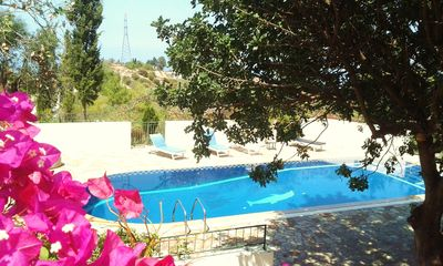 Photo for New! Lovely villa, huge pool 15x5m, gardens overlook vineyards, sea views, Ilgaz