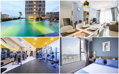 Photo for Mix 2 Luxury High-view Flats Near Saigon's Center with Free Pool, Gym, Internet