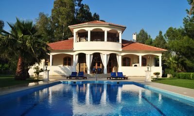 Photo for Secluded luxury villa, large enclosed garden with pool and terrace