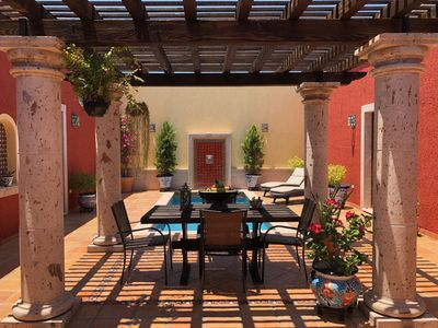 Photo for New hacienda style view home with courtyard pool in La Paz.