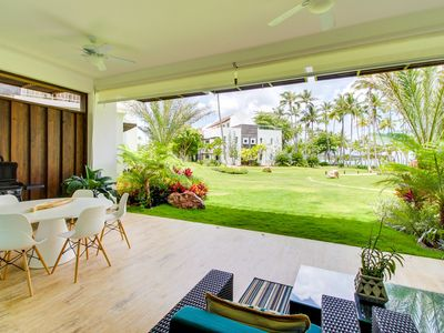 Photo for NEW LISTING! Ground-level beachfront condo w/shared pool, beach access & views