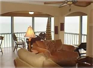 Livings Room with oceanfront view