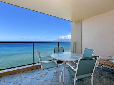 Photo for Kaanapali Beach : Unobstructed Ocean Front View from the 9th floor ~ Central A/C