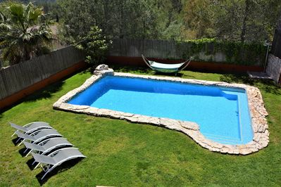 Pool XXL 10*6 metros. Sunny oriented.  Opcional Heated at 30º. Our Sitges Villa