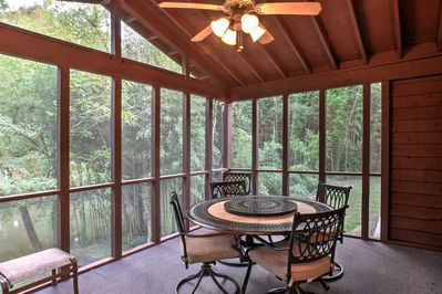 The 2-bedroom, 2-bath home offers 6 guests a rejuvenating stay.
