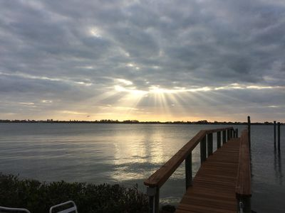 Photo for Private 2 BR Waterfront Cottage with Deep Open Water Dock On Lemon Bay.